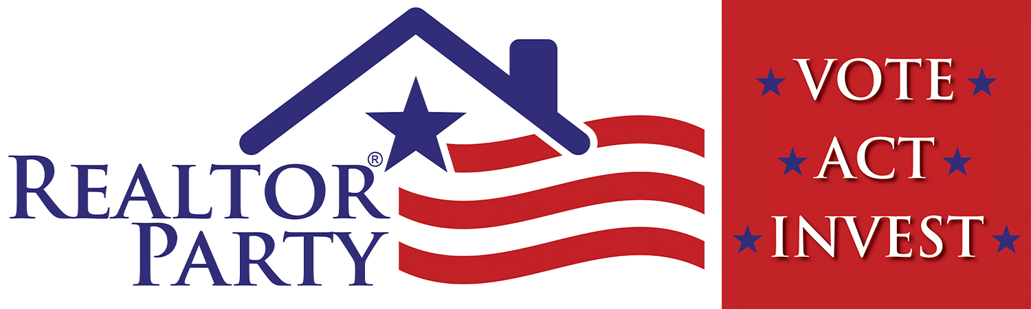REALTOR® Party Logo & 'Vote Act Invest' Slogan