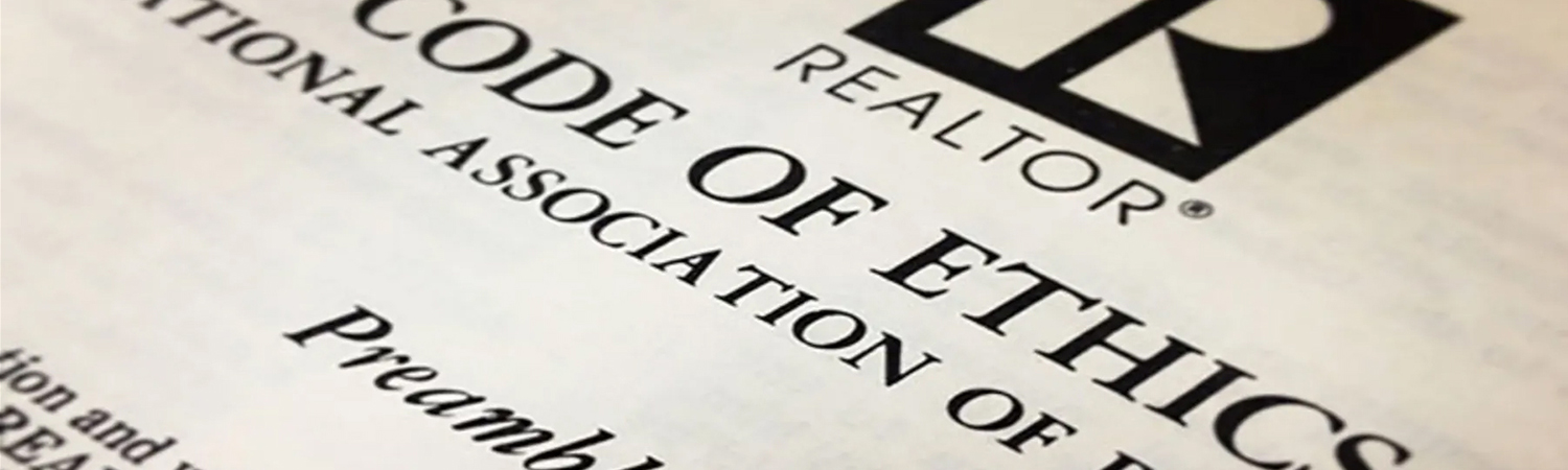 Close-up of REALTOR® Code of Ethics Title & Preamble