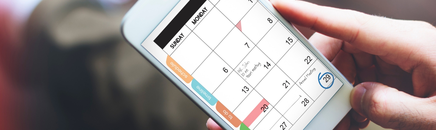 Close-up of Smartphone Calendar with Scheduled Meetings